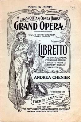 ANDREA CHÉNIER, Umberto Giordano