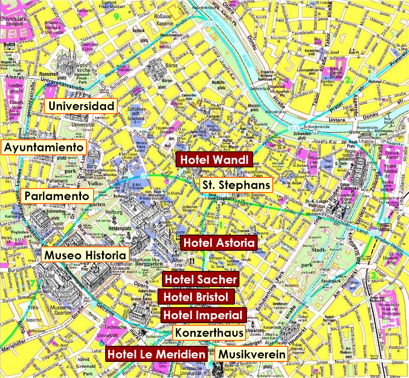 Mapa Sitios de Interés, Fin de año en Viena