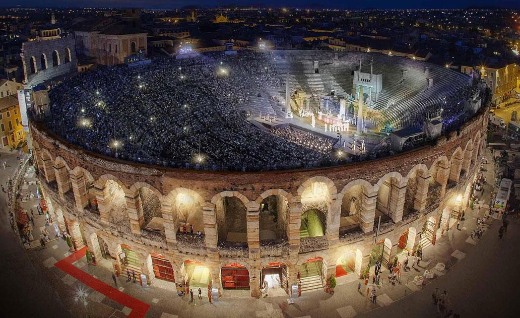 Arena de Verona de noche