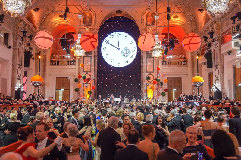 Baile de la Fiesta de Fin de año en Viena